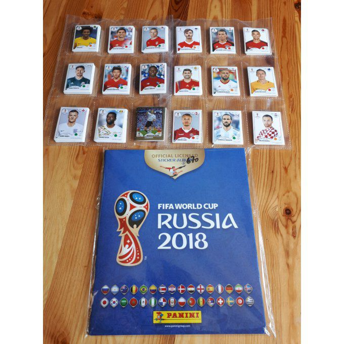 Panini Russie 2018 version Belge Set complet 670 images