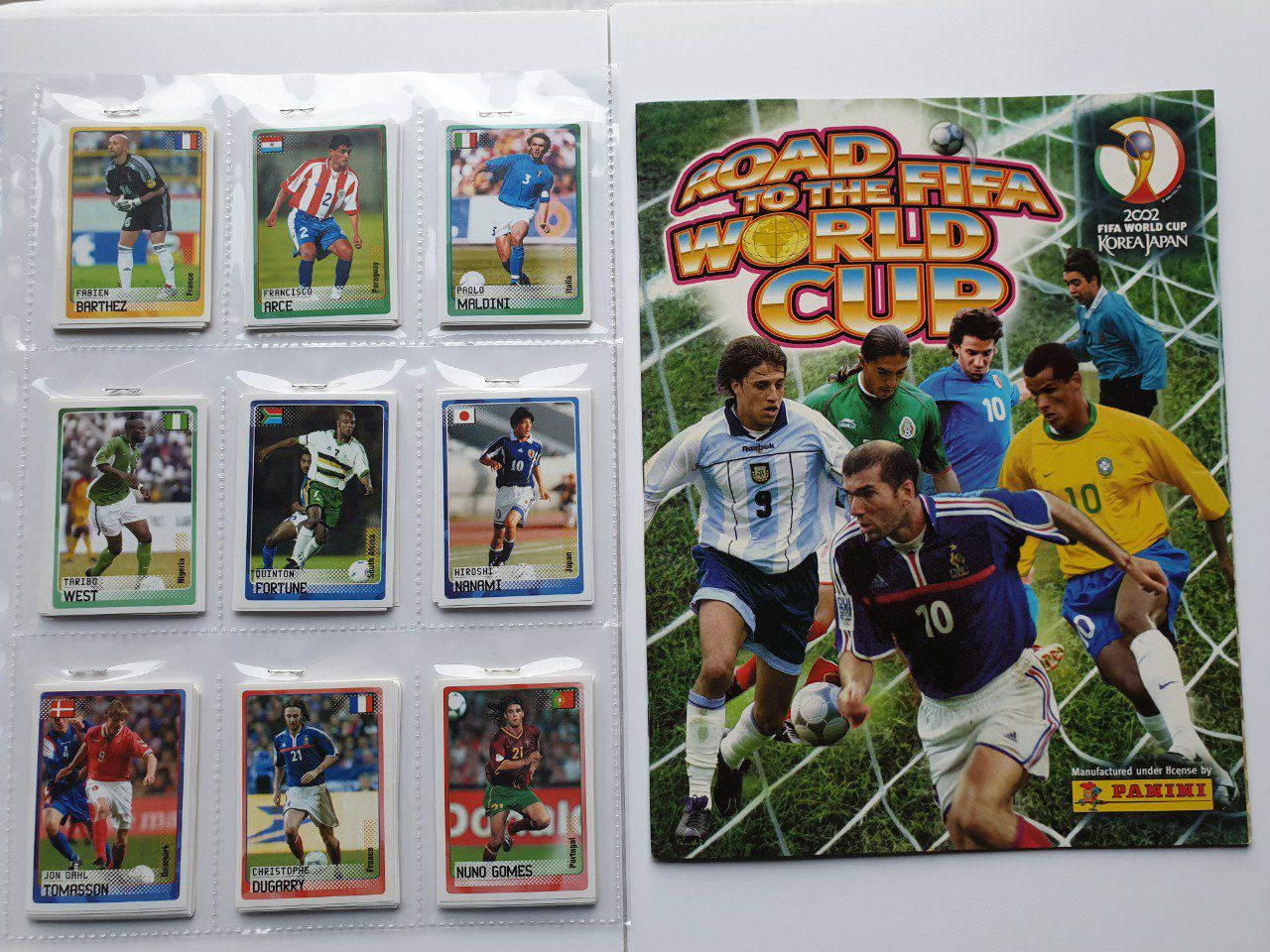 Panini Road to Korea Japan 2002 Set complet 150 images