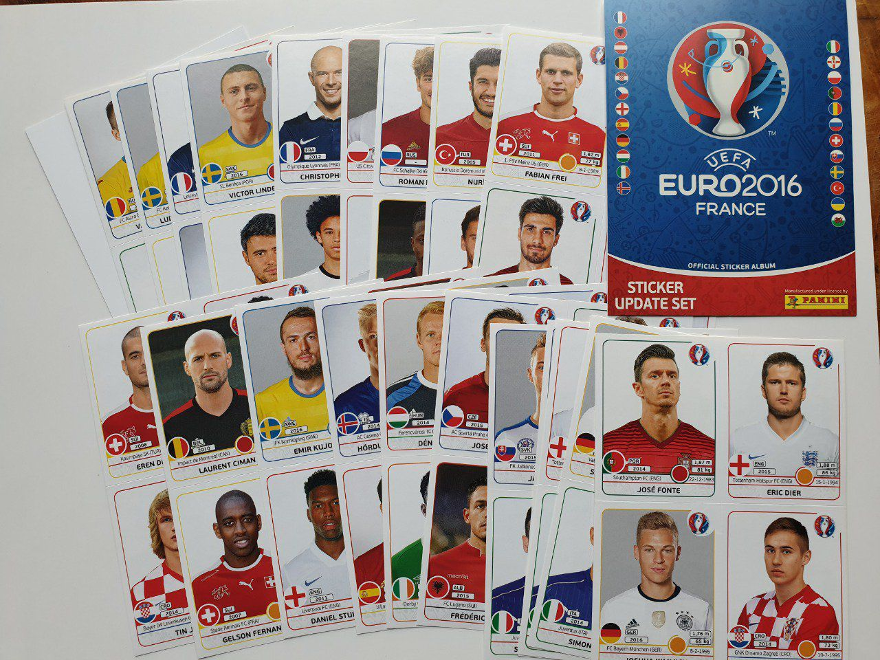 84 stickers Update Euro 2016