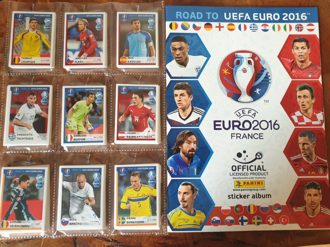 Panini Road to EURO 2016 Set complet 384 images