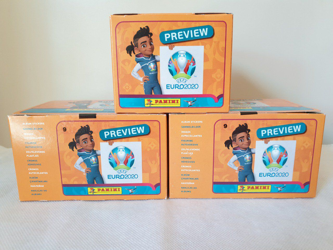 Panini Euro 2020 Preview BOX 120 Pochettes version Belge