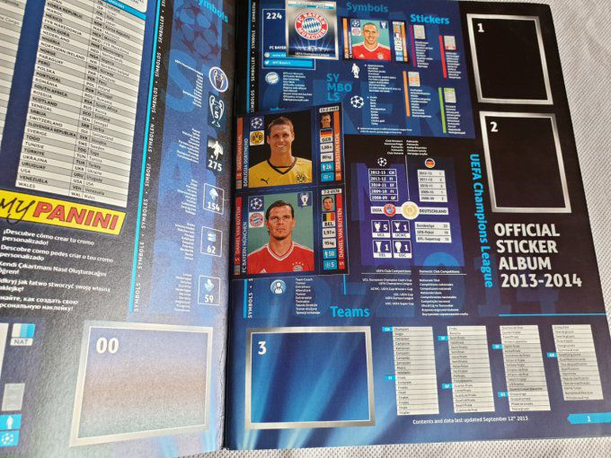 Panini Champions League 2013/2014 Album vide IT