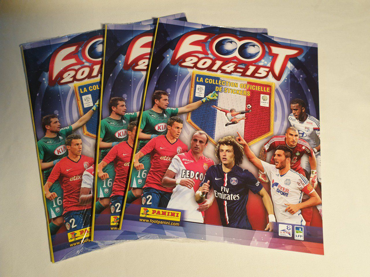 Panini championnat de France Foot 2014-2015 Album vide