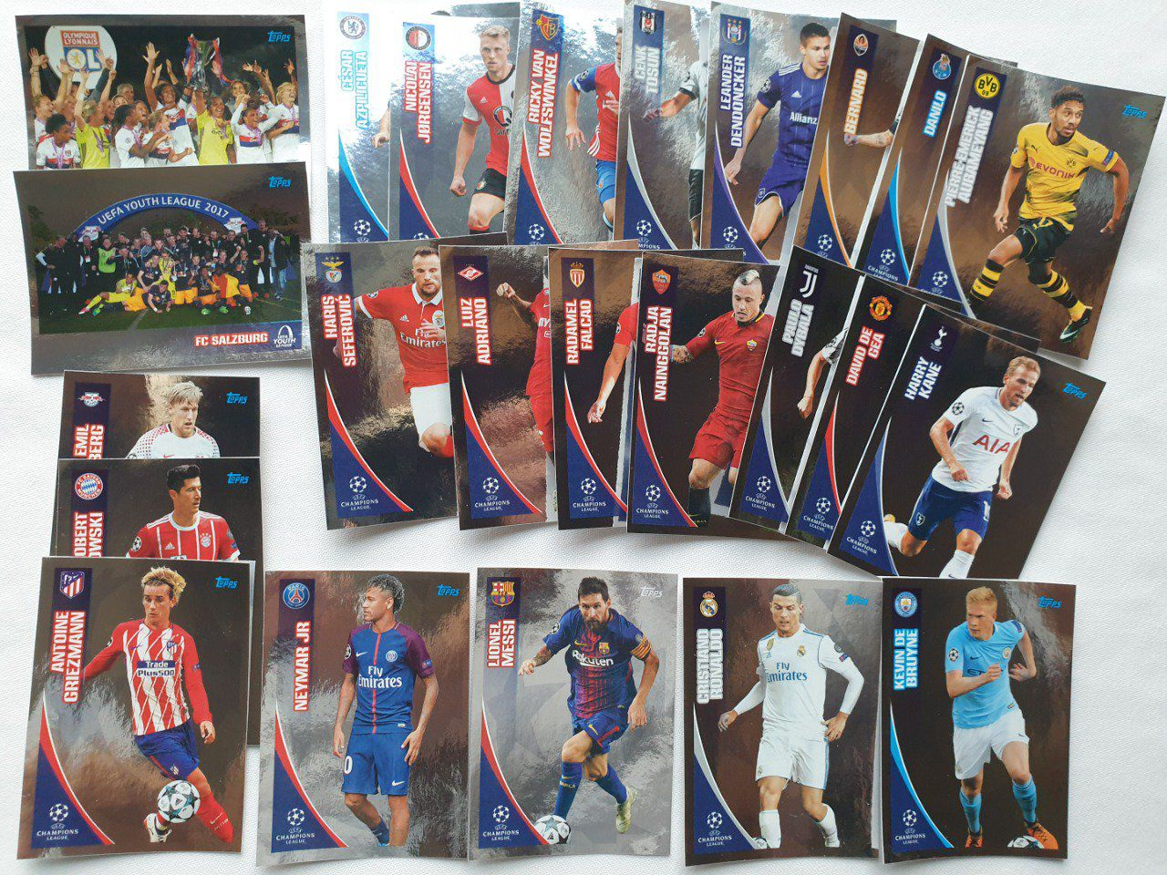 Topps champions league 2017-2018 Star brillante complet