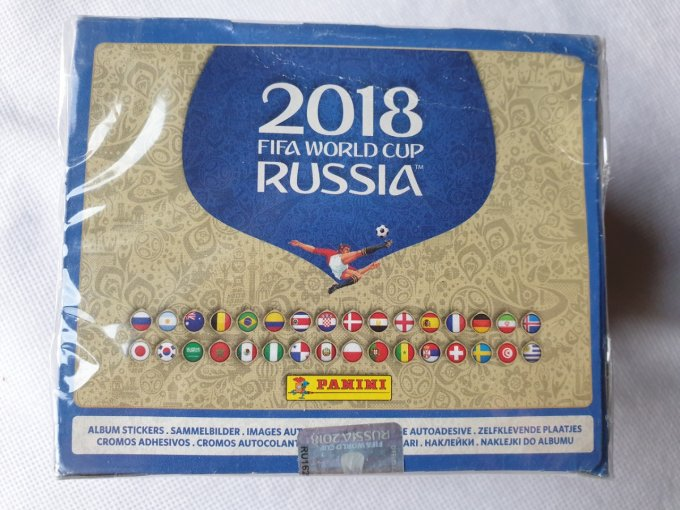 Panini Russie 2018 Box version 568 dos noir