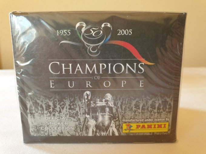 Panini Champions of Europe 1955-2005 Box 50 pochettes ultra rare