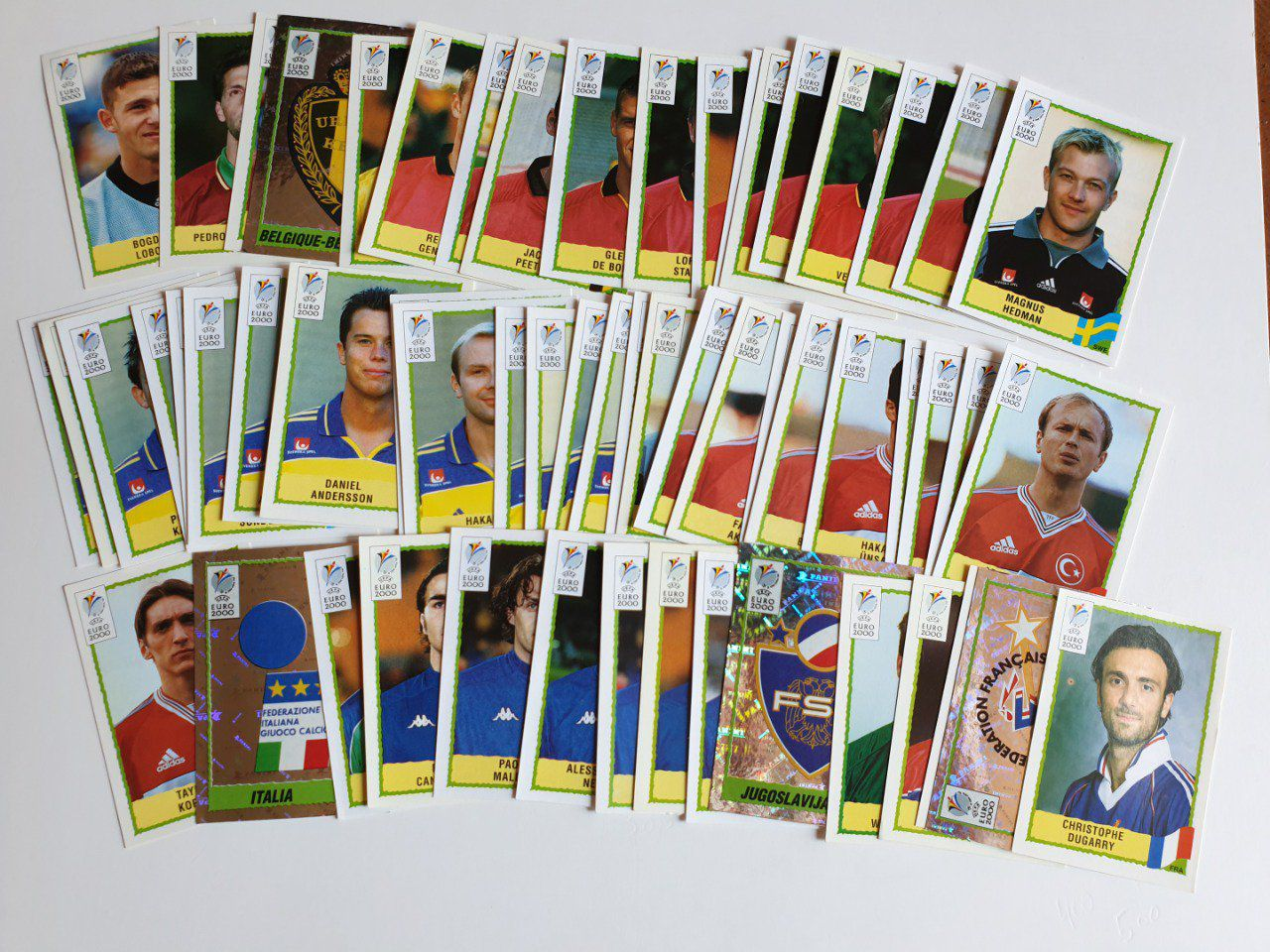 Lot 58 images Euro 2000 Lot A