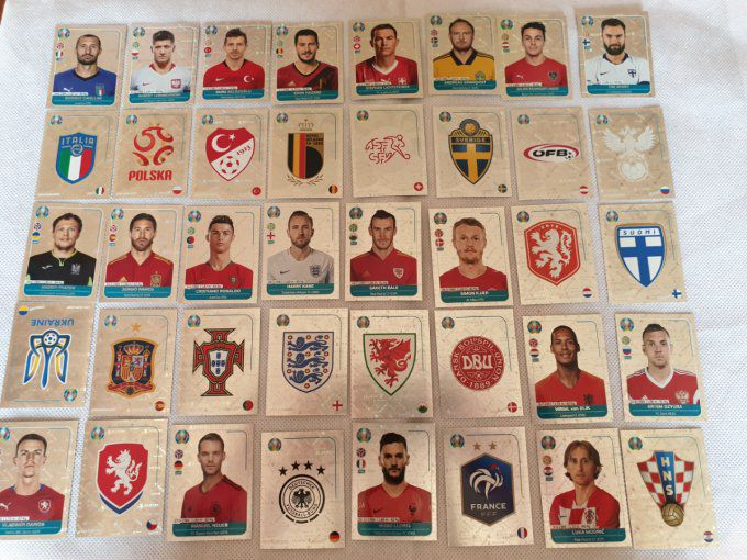 Euro UEFA Preview Complet 40 stickers Brillante version France