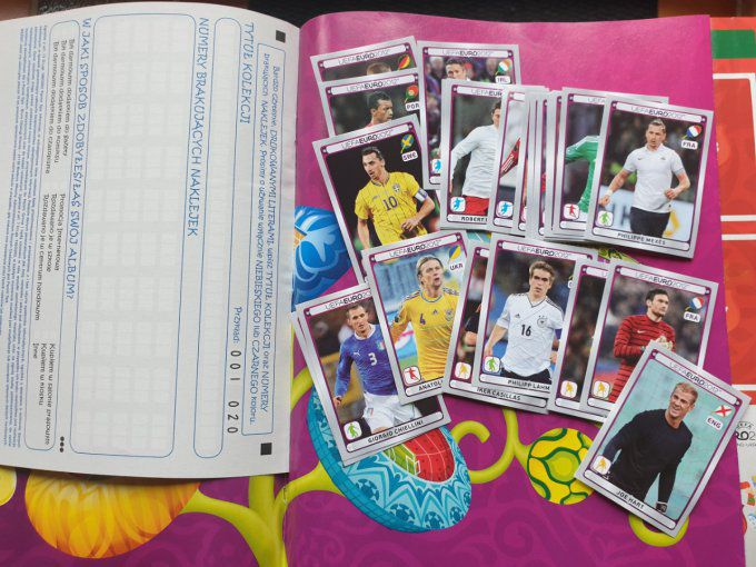 Panini Album vide Euro 2012 version Polonaise