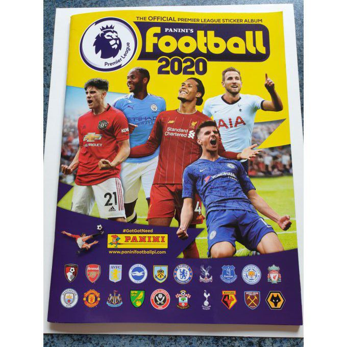 Panini Premier League Football 2020 Album Vide