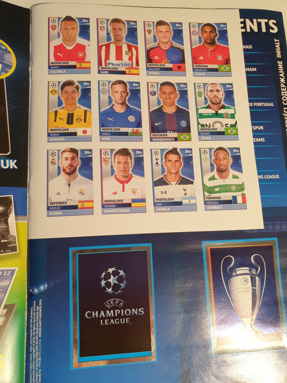 Topps Champions League 2016/2017 Album complet coller