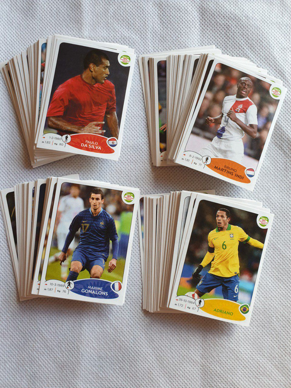 Lot de 235 images Road to Uefa Brazil 2014 sans double