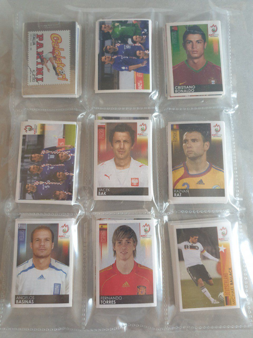 Panini Euro 2008 International Set complet 535 images