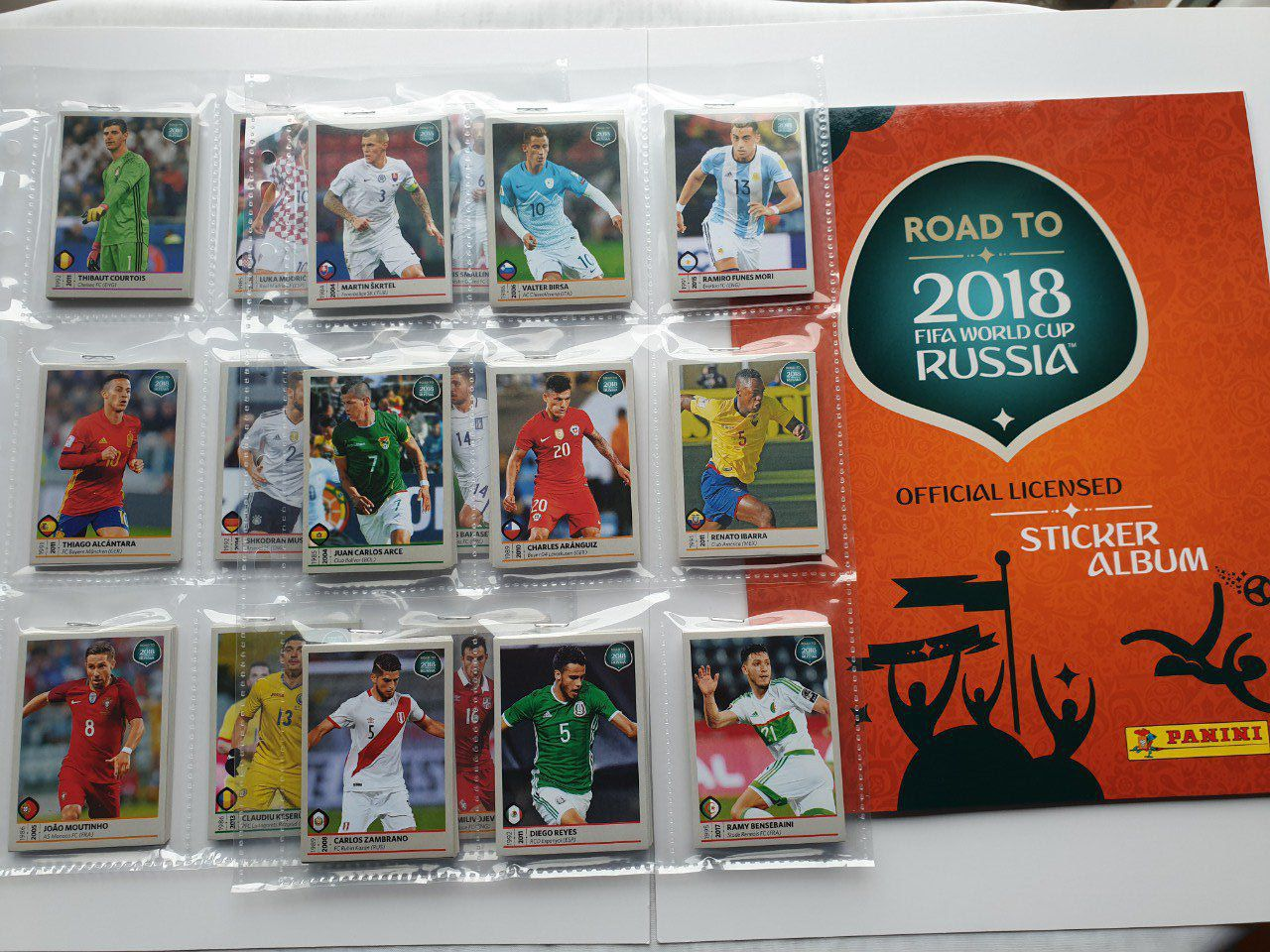 Panini Road to Russie 2018 Set complet 480 images