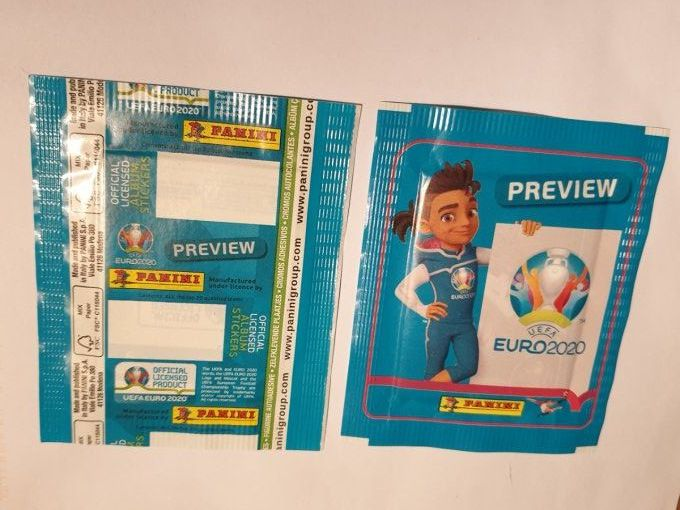 Panini Euro 2020 Preview par Pochette No CODE BAR blue version