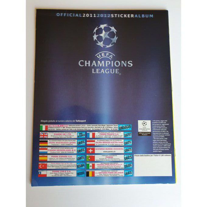 Panini Champions League 2011/2012 Album vide