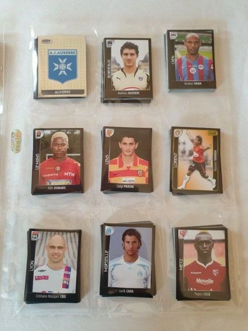 Panini championnat de France Foot 2008 set complet Album+images