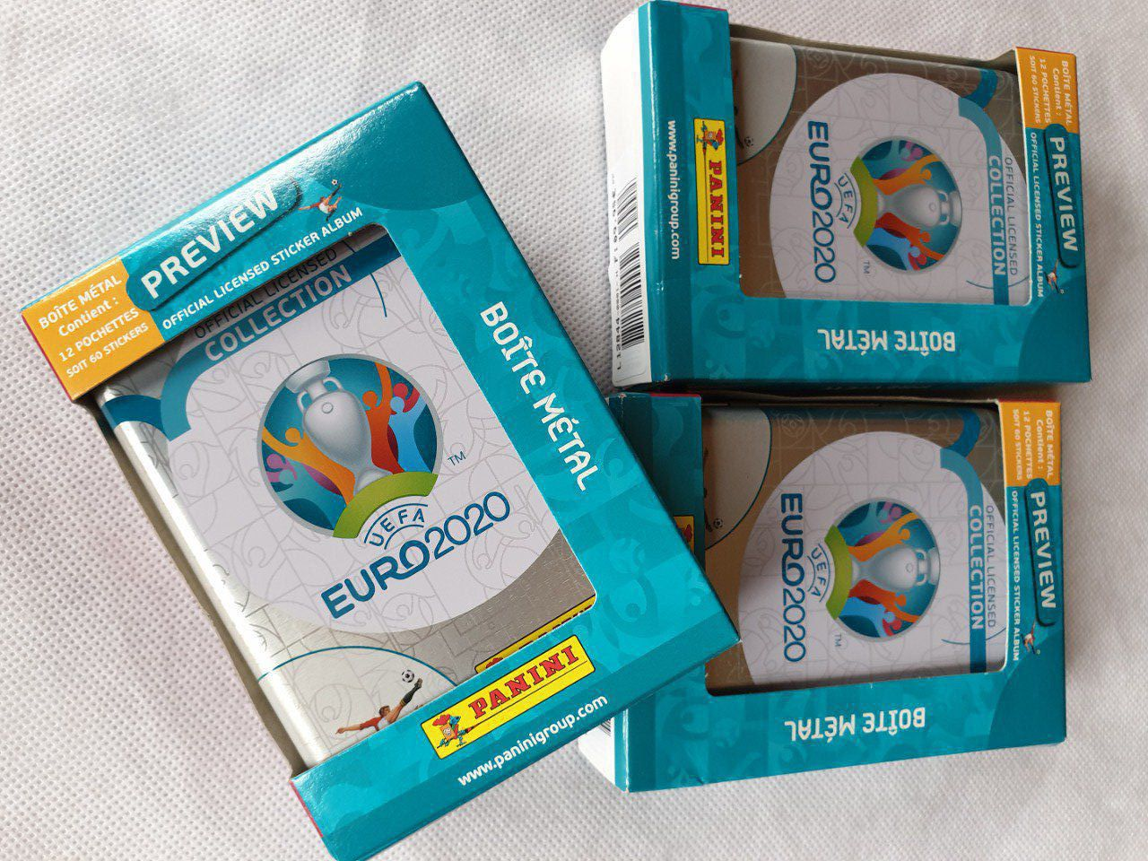 Panini Euro 2020 Preview box métal collector version Française