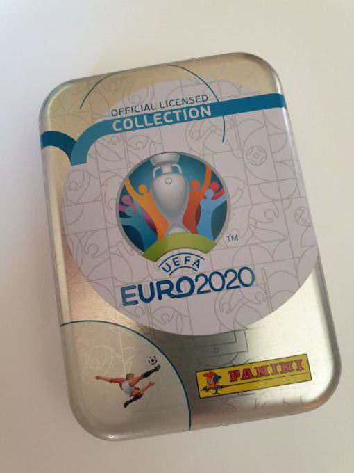 Panini box métal collector euro 2020 Vide